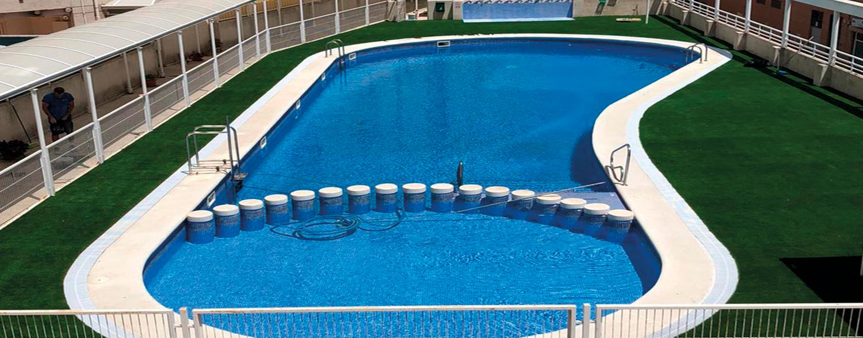 remodelación piscina zona comun
